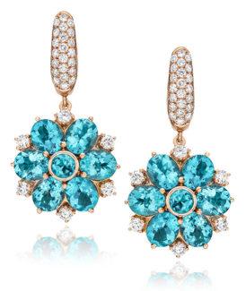 Apatite Flower Drop Earrings
