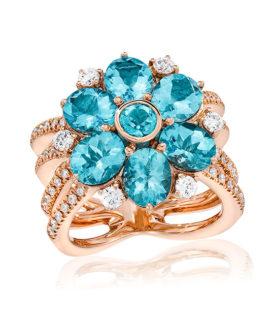 Apatite Flower Ring